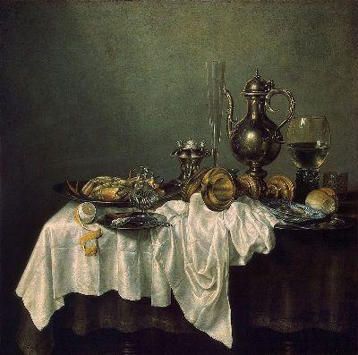Виллем Клас Хеда. Натюрморт с крабом. 1648