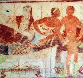 36. Сцена пира. Роспись в гробнице